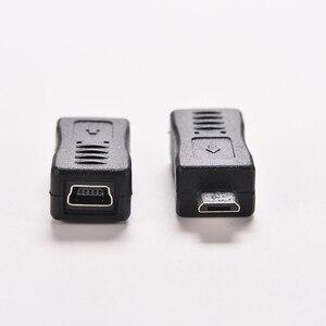 Image 4 - 1PC Schwarz Micro/Mini 4 Typ Gerade/L Form USB Weiblichen zu Mini/Micro USB Männlich adapter Ladegerät Stecker Konverter Adapter