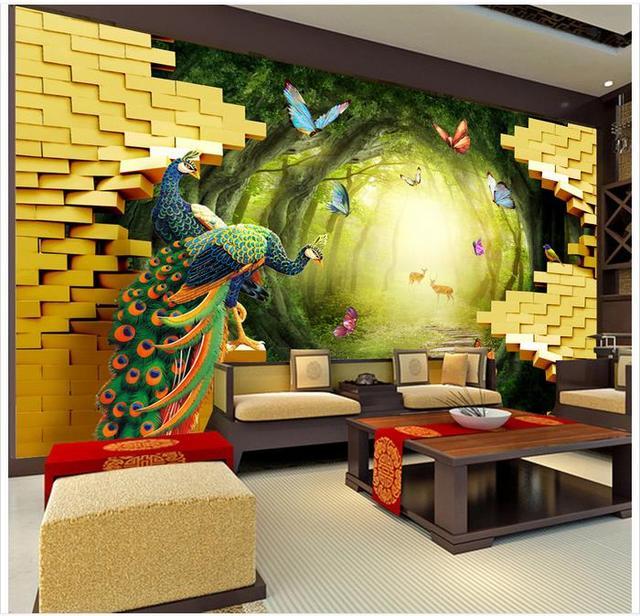 High end custom 3d photo wallpaper murals wall paper beauty Garden ...