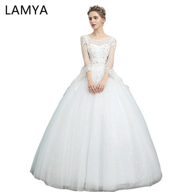 LAMYA Princess Illusion Wedding Dresses Korean Elegant Ball Gown ...