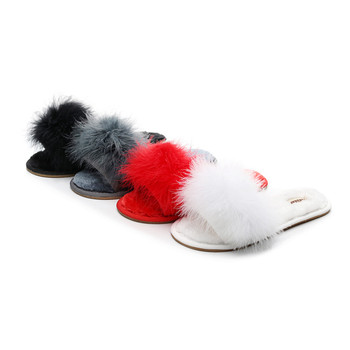 FAYUEKEY 2020 New Spring Summer Winter Home Cotton Plush Fur Slippers Women Indoor Floor Bedroom Flat Shoes Free Shipping 4
