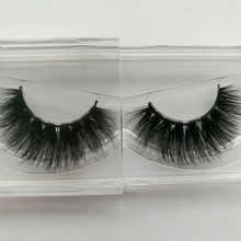 1 pair 3D Handmade Thick Mink lashes Natural False Eyelashes fake Eye Lashes Extension for Beauty Makeup