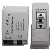 1 Channel DM015 High Voltage LED RF Dimmer AC110V- 220V 0-10V 1CH Trailing Edge Dimming 3 Key with Remote LED RF Dimmer Control
