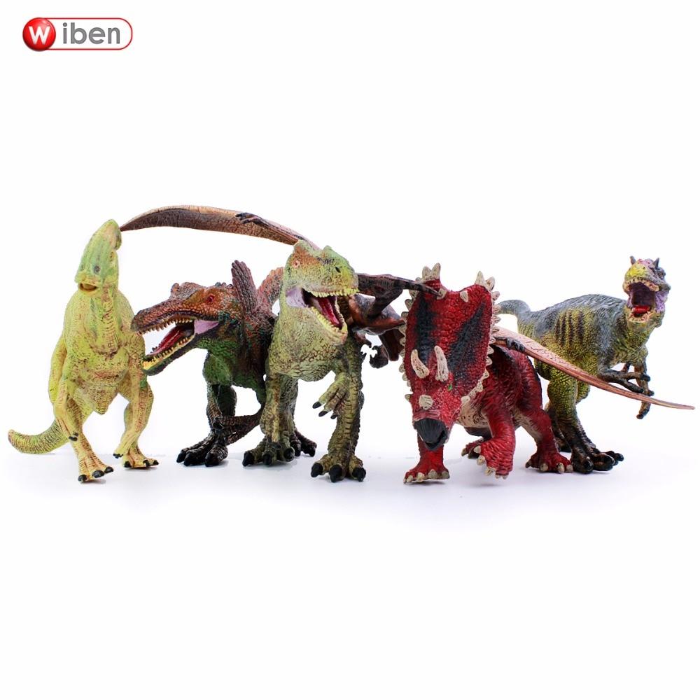 6ks / lot Wiben Jurský Allosaurus Parasaurolophus Yutyrannus - Hračky figurky