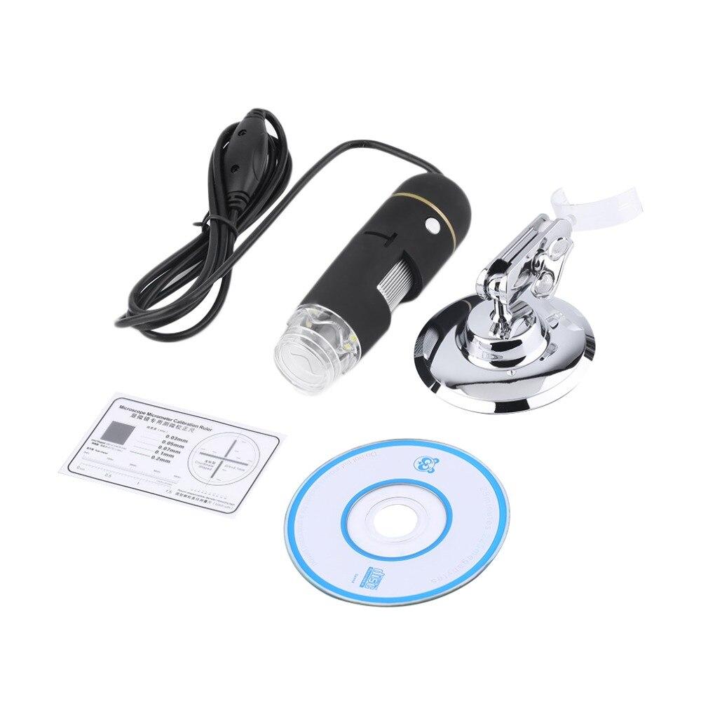 2-МЕГАПИКСЕЛЬНАЯ USB 8 Светодиодов 50X-500X Цифровой Микроскоп Эндоскопа CMOS Сенсор HD Лупа Камеры 30fps с Программным Обеспечением Измерения Цифровой Горячей