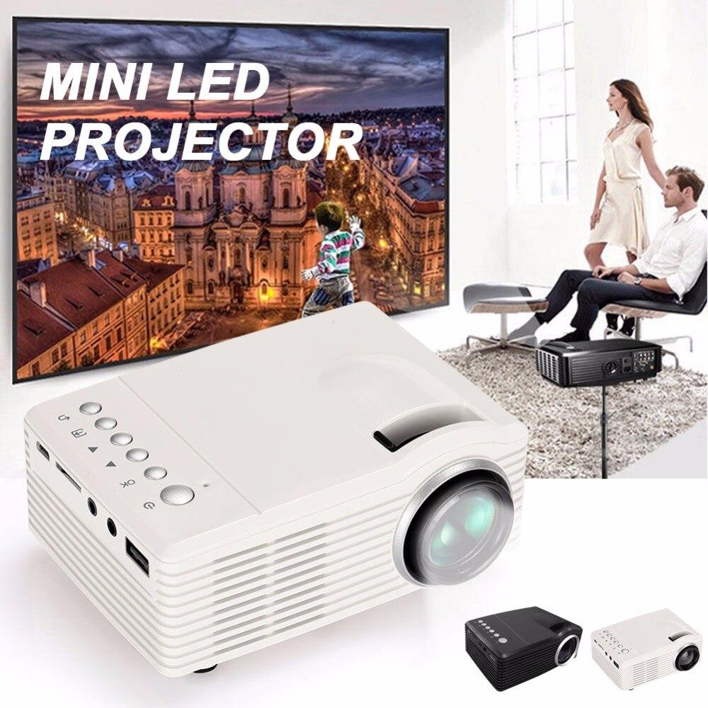 Светодио дный проектор 500: 1 4: 3/16: 9 ручной фокус мини-проектор D-TV AV 1000LM домашний кинотеатр Офис школа Театр видео проектор