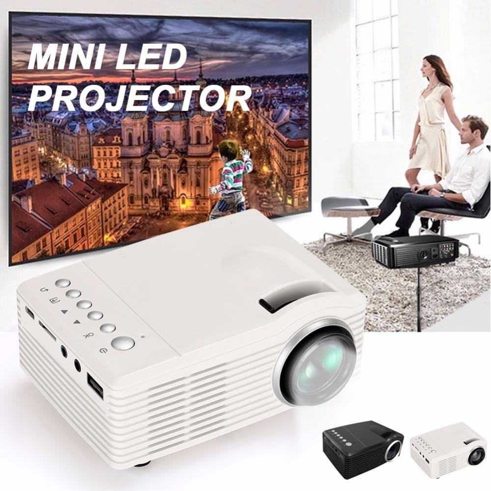 Proyector LED 500: 1 4: 3/16: 9 mini proyector de foco manual D-TV AV 1000LM home cinema office school theater video proyector
