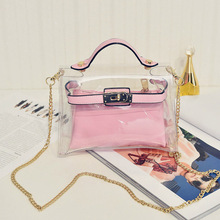 Handbags Women 2016 Summer Transparent Bags Chain Waterproof Single Shoulder Bag Candy Messenger Bolsos
