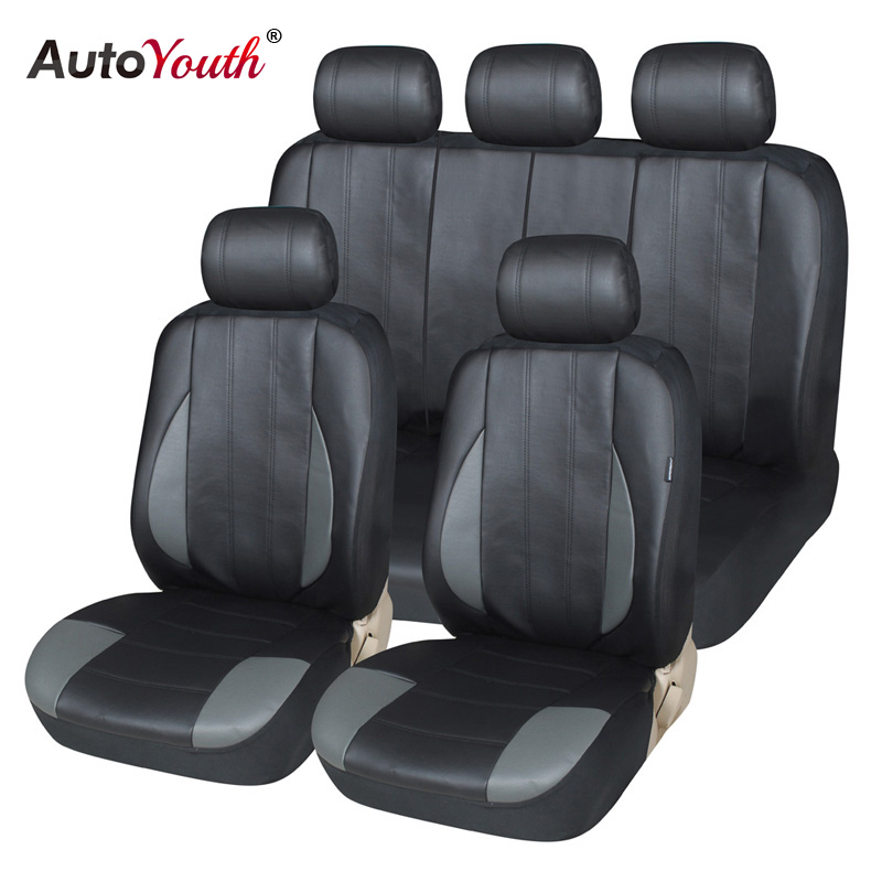 Premium PU Leather Car Seat Covers Universal AUTOYOUTH Full Synthetic Set Seat Covers for Toyota Lada