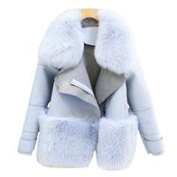 Fur & Faux Fur Coat For Women Denim Tops & Jacket Female Artificial Sheepskin Coats Fluffy Rabbit Fashion Online Shop Clothing