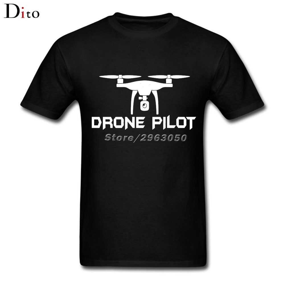 Drone Pilot T Shirt Men Boy Summer Custom Short Sleeve Valentine's Plus Size Team Tee Shirts