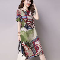 Linen Dress Online Shopping India Summer Dress Women 2017 Hippie Boho Plus Size Vestidos Ukraine Floral