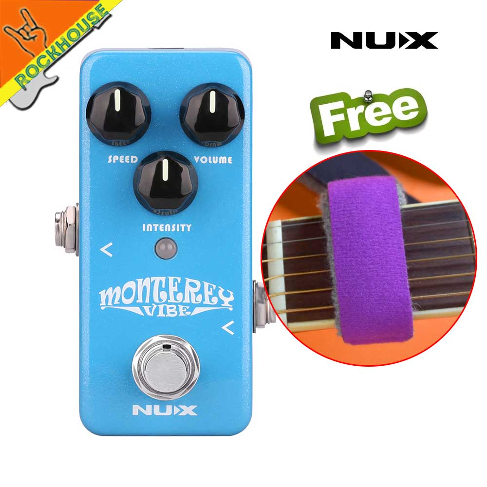 цена на Nux Monterey Vibe Guitar Effects Pedal Vibrato Guitarra Vibe pedal Analog Sound with Upgraded Hardware Free Shipping