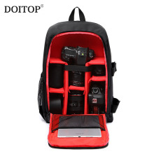 DOITOP Waterproof Backpack For Lenses Camera Lens Bag Travel Bag Shoulder Bag Outdoor With Rain Cover Laptop 15.6″ Video Case A3