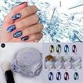 1 g/caja Brillo Espejo Brillo de Uñas Camaleón Polvo Gorgeous Nail Art Pigmento de Cromo Manicure Escarcha Polvo Decoración de Uñas de Arte