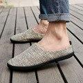 2016 Hombres Zapatos Casual Slip On Zapatos de Los Planos de Los Holgazanes Hombres Zapatos de Lona Para Los Hombres Pisos Mocasines Alpargatas