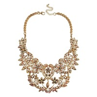 Vintage Hollow Flowers Statement Collar Necklace Gold Chunky Necklaces Pendants Women Bijouterie Jewelry Retro Collares 2015