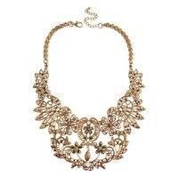 Vintage Hollow Kwiaty Komunikat Collar Naszyjnik Złota Chunky Naszyjniki Wisiorki Kobiety Biżuteria Biżuteria Retro Collares 2015