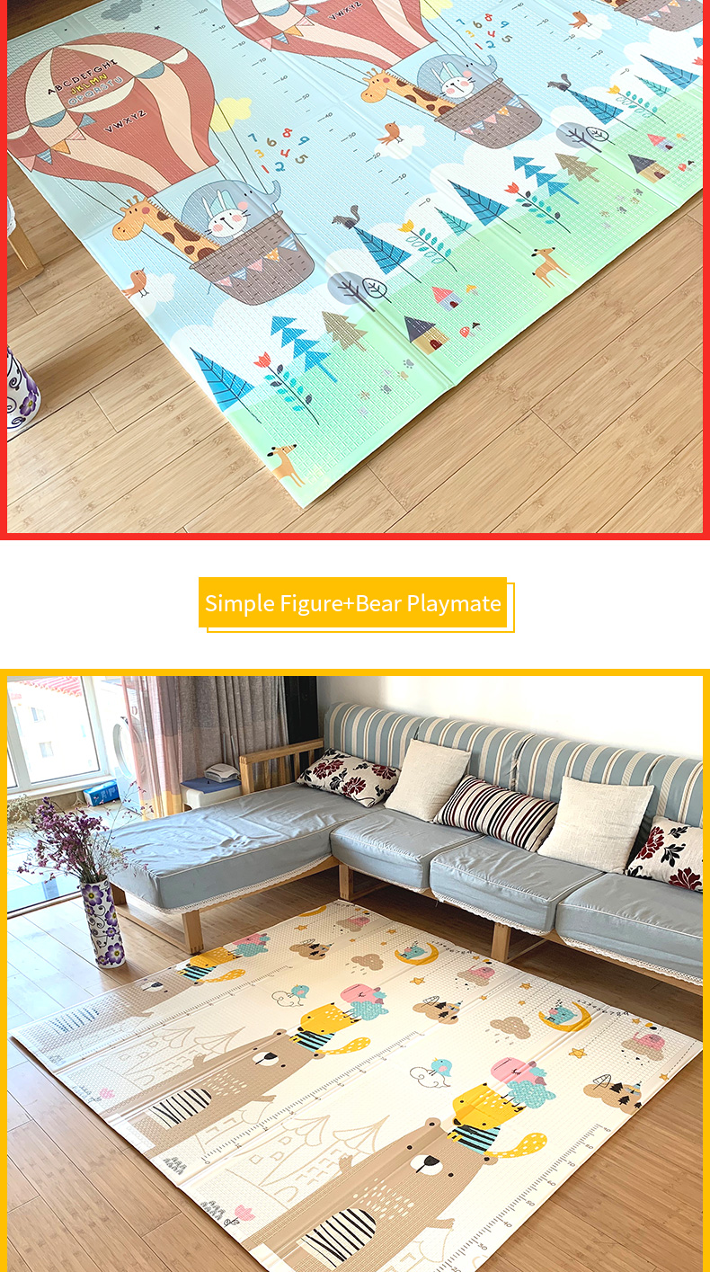 Infant Shining Baby Mat Play Mat for Kids 180*200*1.5cm Playmat Thicker Bigger Kids Carpet Soft Baby Rugs Crawling Floor Mats