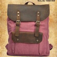 Кожаный военный холщовый рюкзак, женский рюкзак, школьный рюкзак для девочек-подростков, школьные сумки, рюкзак, рюкзак, mochila