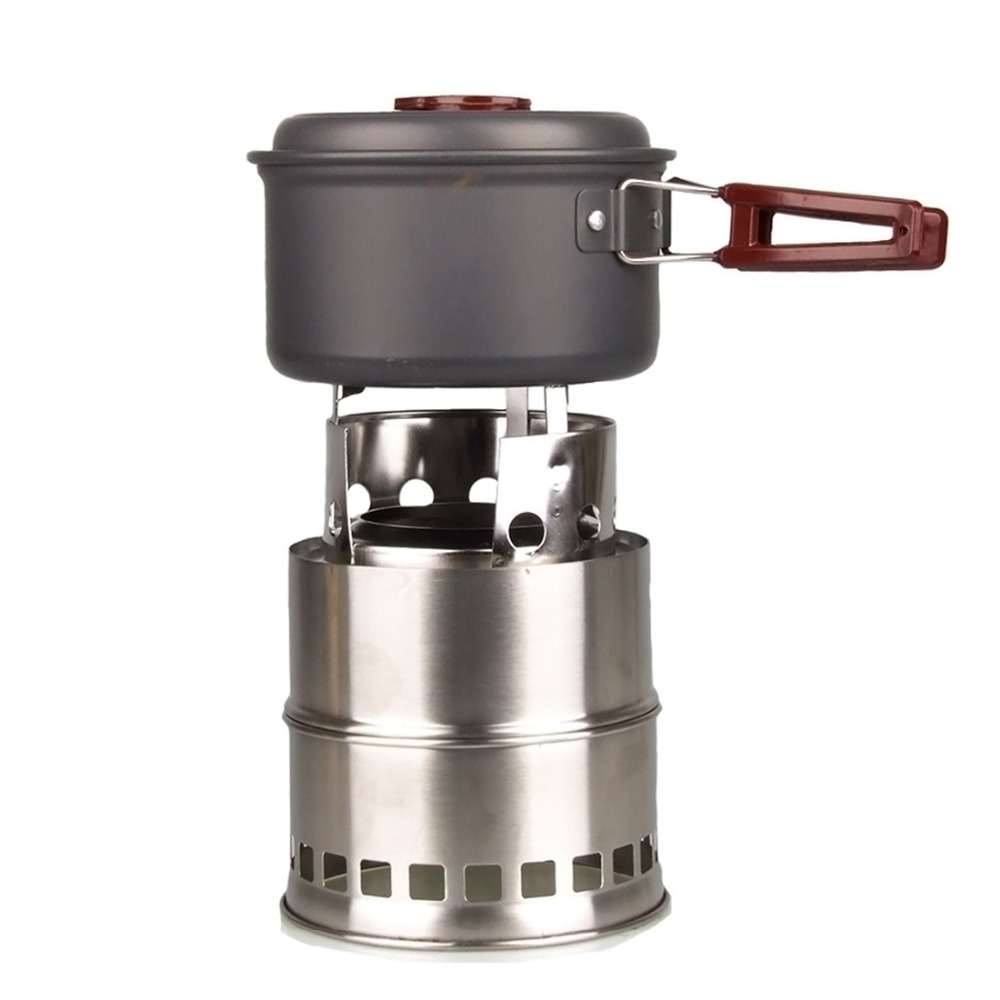 Stainless Steel BBQ Stove Folding Wood Burning Stove Outdoor Picnic Camping Furnace Barbecue Tools 2018 New Arrival