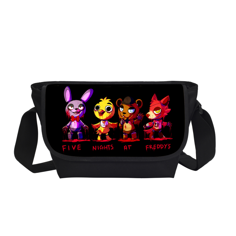 2017 New Fashion 3D Printing Cartoon Messenger Bags For Teenage Girls Boys Five Nights At Freddy Book Bags For Children Mochila