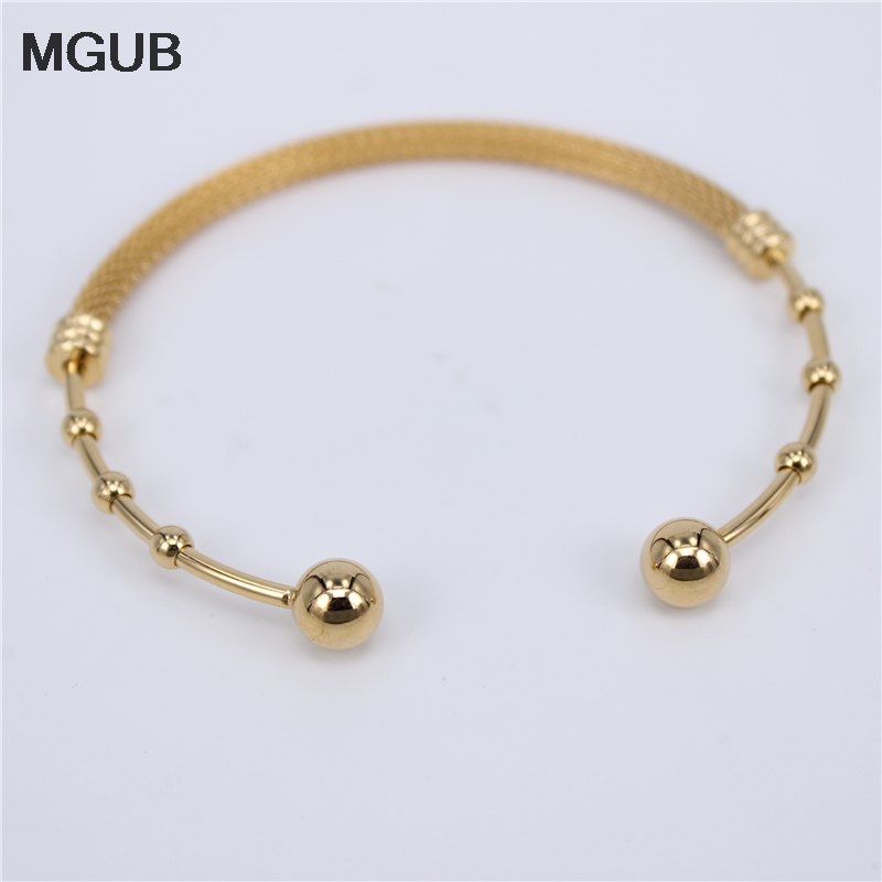 Wholesale Cuff Bangle & Bracelet Stainless Steel Bangle For Men Women Vintage Jewelry Gold Color Factory Price LH748