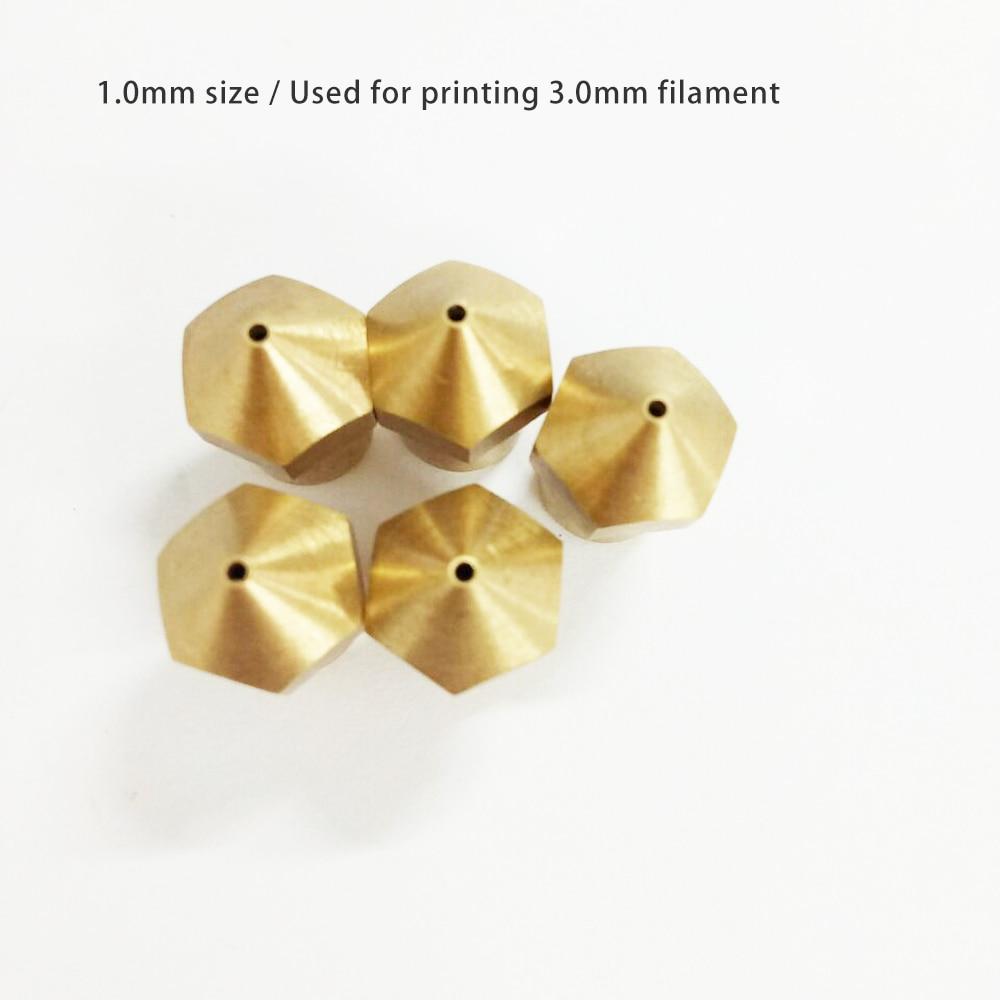 5 kusů mosazné trysky CreatBot, 1,0 mm, originální díly pro - Kancelářské elektroniky