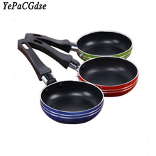 New mini stainless steel omelette pot household non-stick pan small kitchen cookware