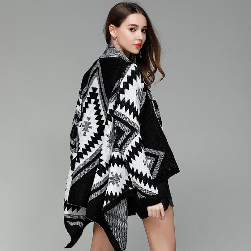 Women's Sweater 2019 Spring Summer New Fashion Geometric Diagram Long Sleeve Sweaters Leisure Upper Outer Garment Beach Trend Price $53.80