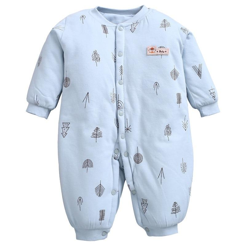 Baby Rompers Winter Newborn Thicken Cute Long Sleeve Jumpsuit Girl Bodysuit Infant Boys Snowsuit