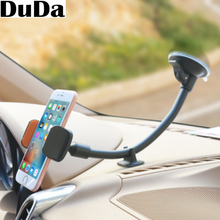 DuDa Universal Cellphone Car Windshield Mount Holder Mobile Phone Stand Long Arm for iPhone x pocophone f1 oppo find honor 10