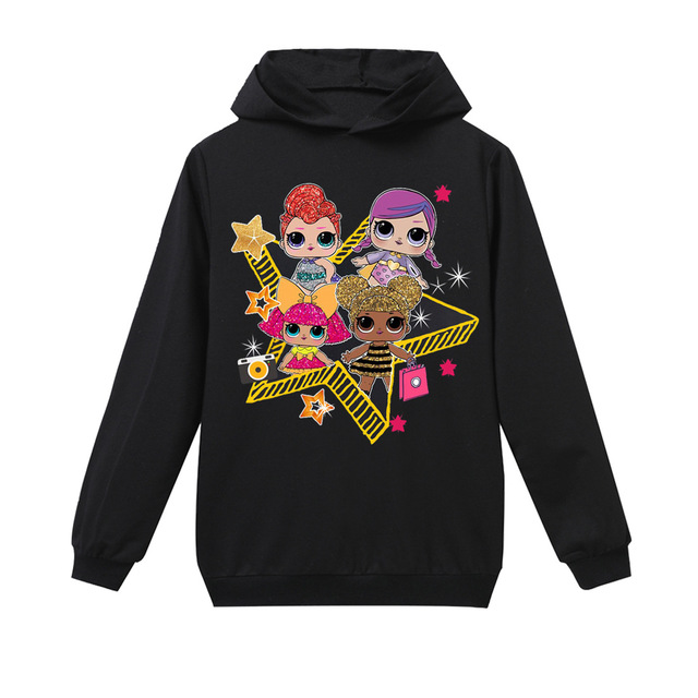 f00c71276 New hoodie LOL surprise doll children clothing autumn and winter baby girl  lolirock Tshirt 100%