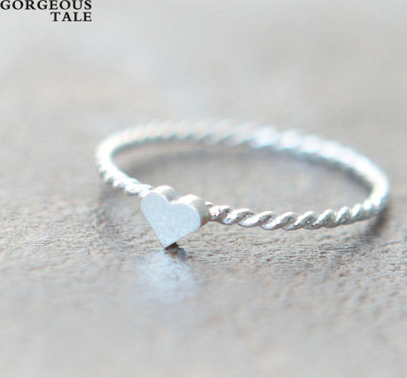 gorgeous tale cheap fashion rings womens silver band fashion twisted metal heart ring inexpensive jewelry rings - Inexpensive Wedding Rings