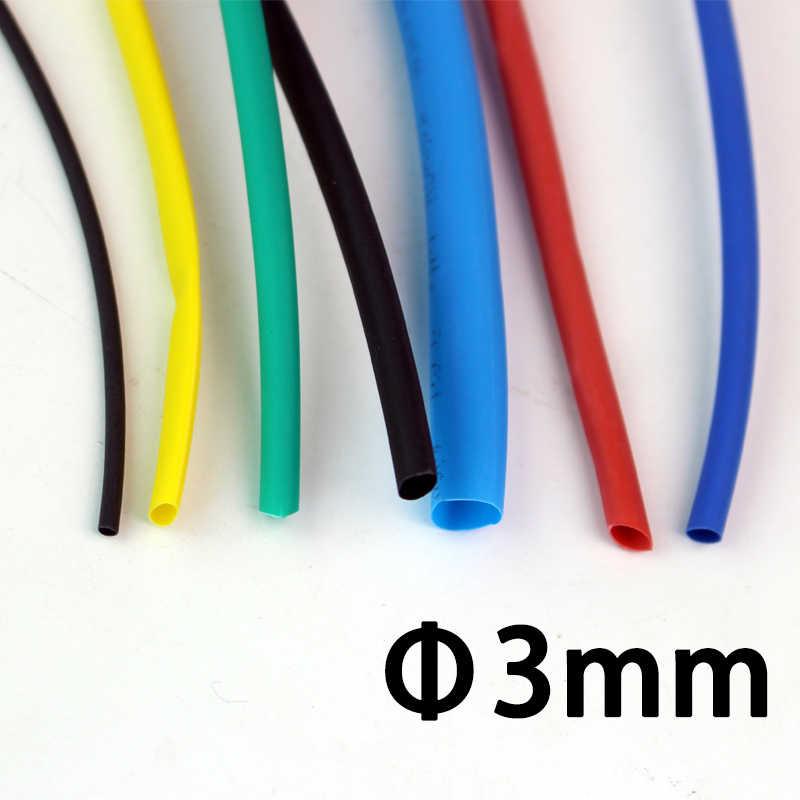 1 メートル/ロット 3 ミリメートル熱収縮チューブチューブ熱収縮収縮スリーブラップワイヤーケーブルキット Pls はにヒートガンを使用を縮小