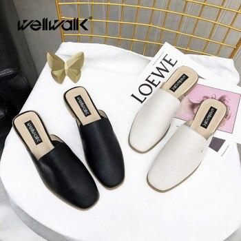 edb5fb8a9d4a Wellwalk/обувь из натуральной кожи; женские шлепанцы; брендовые шлепанцы;  женские шлепанцы;