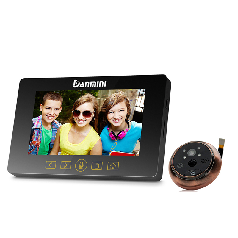 DANMINI New 4.3 inch Color LCD Doorphone Video Intercom 3.0MP Door Peephole Viewer Camera Video Doorbell Home Security IR Camera цена