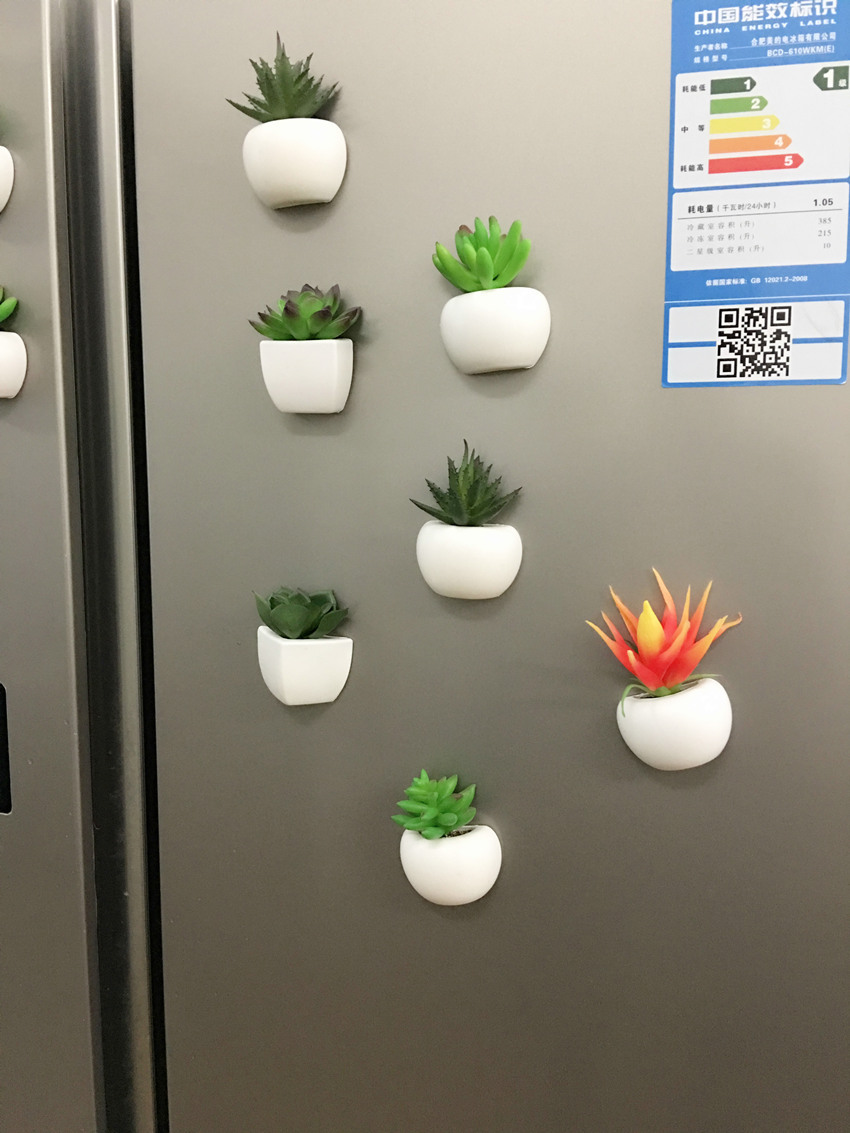 Bonsoplant Fridge Magnets Potted Artificial Green succulent Bonsai plants HTB1AYfFhBsmBKNjSZFFq6AT9VXaX fridge magnets
