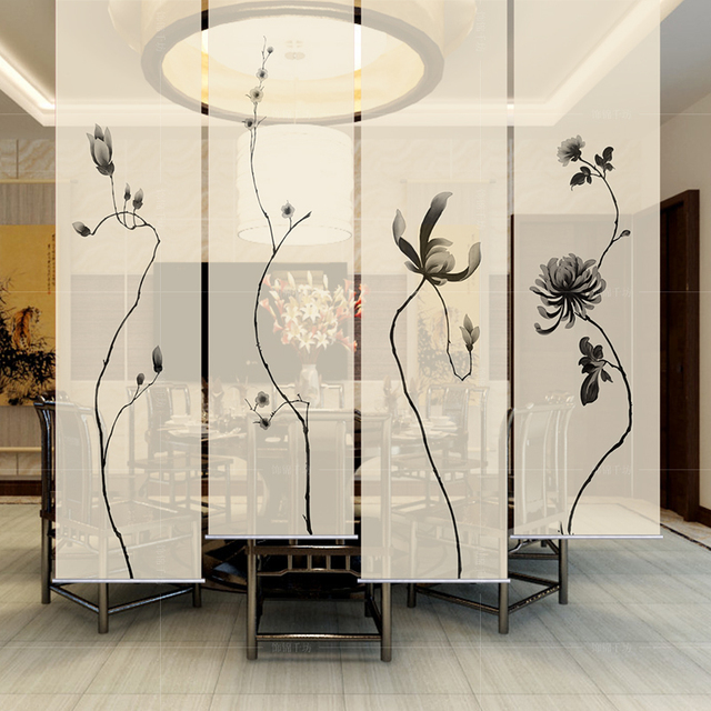 Hanging Curtain Room Divide Biombo Screen Patterns Designs Home