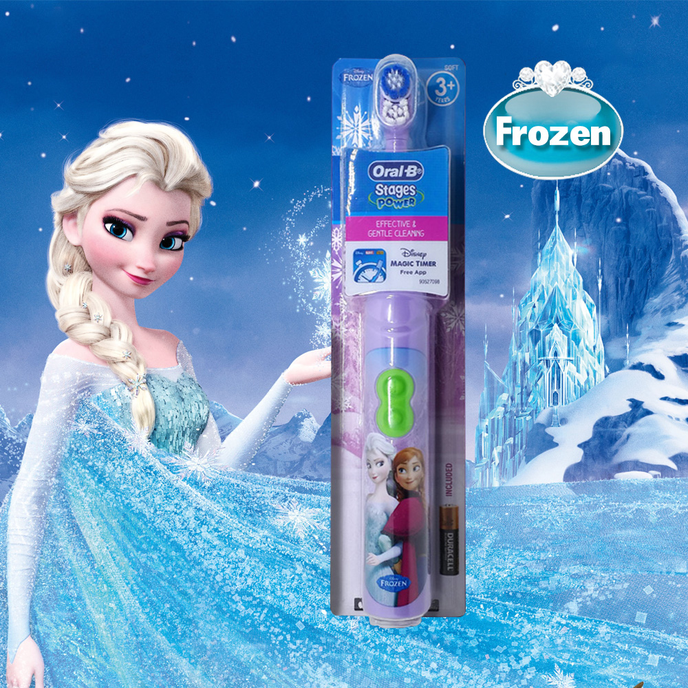 Oral B Children Electric Toothbrush Oral Care Soft Bristle Head Kids Stage Power Battery Oprated Cartoon Tooth brush For Child image