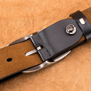 Image 3 - BISON DENIM Pin Buckle Men Belt Cow Genuine Leather Belt Luxury Strap Male Belts Classic Vintage High Quality Men Belt W71486