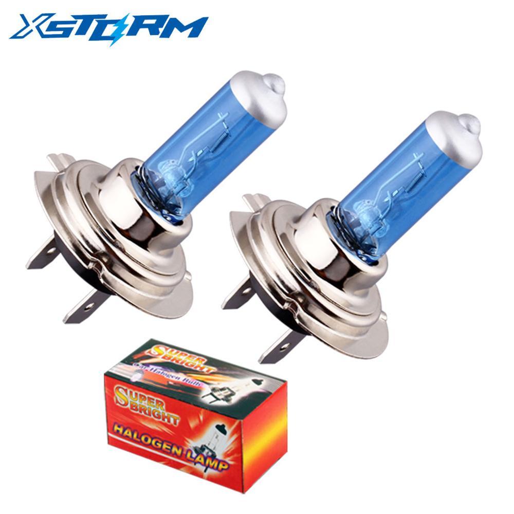 2 шт. H7 100 Вт 12 в супер яркие белые Противотуманные фары галогенная лампа высокой мощности лампа фары автомобиля источник света для парковки ...