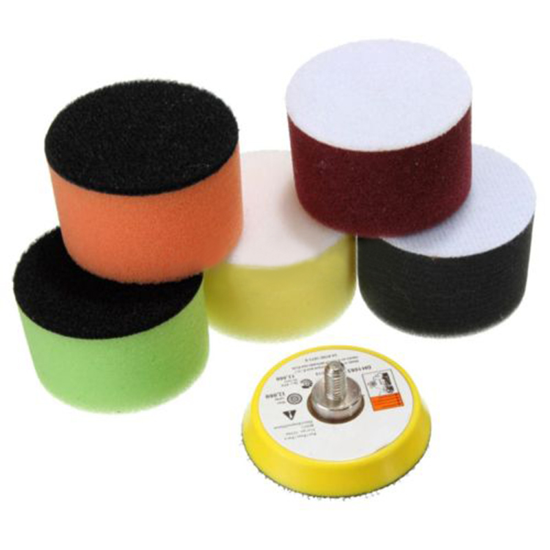 16Pcs 2 inch 50mm Polishing Buffing Pad Flat For Car Cleaning Cleaner Polisher Buffer Tools Kits For Detail Work With Sucker