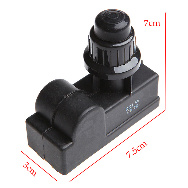 Universal 2 Outlet Igniter Ignitor Push Button BBQ Gas Grill Replacement By AA Battery Kitchen tools Black MAYITR