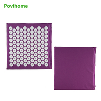 Purple Acupressure Spiky Mat Massage Cushion Shakti Mat Yoga Fit For Relieve Pain Improve Sleep