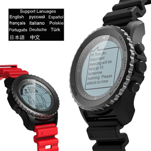 Image 4 - 1 שנה אחריות Makibes G07 GPS גברים שעוני יד Bluetooth חכם שעון IP68 עמיד למים שנורקל בתוך 5 מטרים חיצוני תצוגה