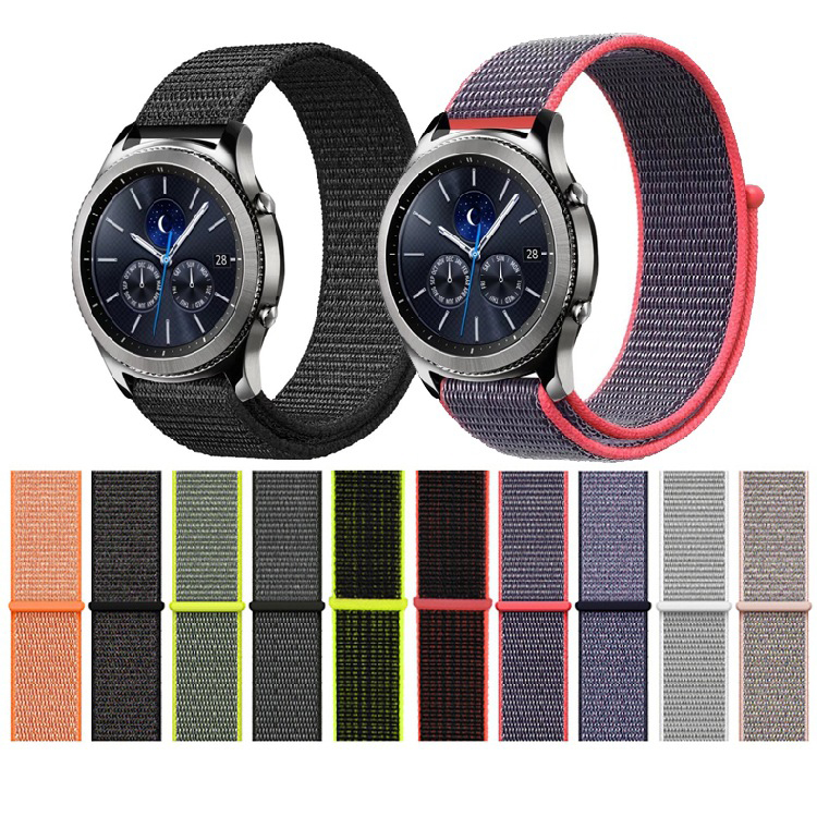 Milanese Loop Nylon Watchband Strap 22mm 20mm for Samsung Gear sport S2 S3 s4 Frontier Band for xiaomi huami amazfit bip Pebble band for samsung gear s2 sport s3 classic frontier watch strap huami amazfit pace bip 20mm 22mm pebble time garmin vivoactive 3