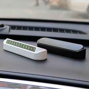 Image 4 - รถหมายเลขโทรศัพท์ที่จอดรถชั่วคราวการ์ดใบอนุญาตอัตโนมัติรถสติกเกอร์เปลี่ยนซ่อนโทรศัพท์มือถือบัตร