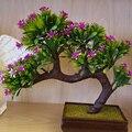 Plantas artificiais Bonsai Plástico Flor Artificial Bonsai Plantas Verdes Plantas Artificiales Decorações De Natal para Casa Presentes