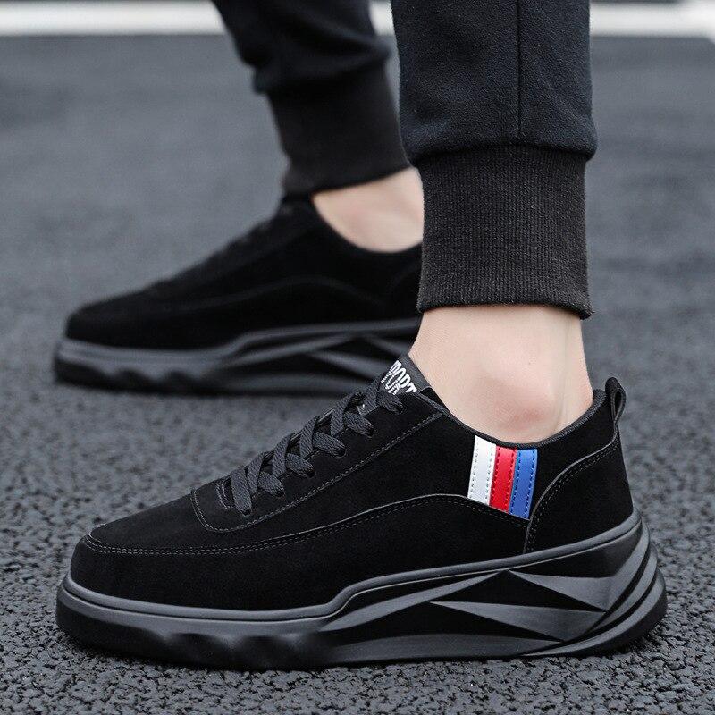 Haute Hommes Sneakers De Véritable Mens Adultes Cuir Chaussures Confortable En rouge Sapatilhas Occasionnels La Noir Gris gris marron Qualité Mode rvwq8r