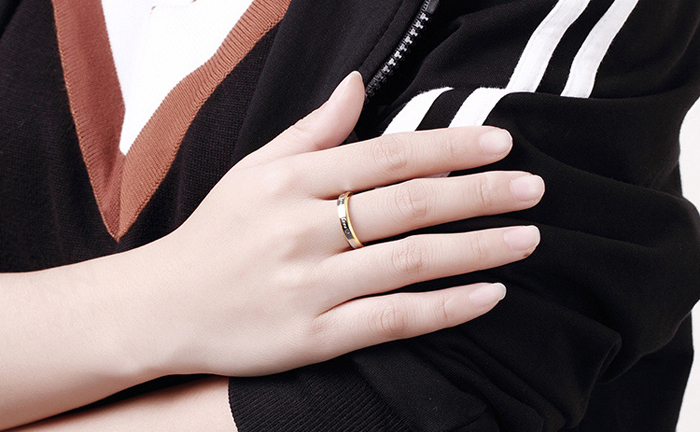 STORT 90% RABATT! Classic Forever Love Solid Gold Ring Engagement - Märkessmycken - Foto 6
